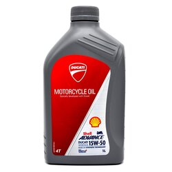 Ducati Öl Shell Advance 15W-50 1 Ltr.
